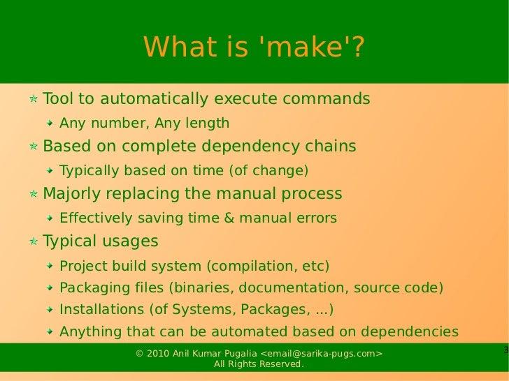 """""""make"""" system Slide 3"""