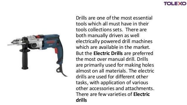 Make the best buy online for electric drills - Tolexo.com