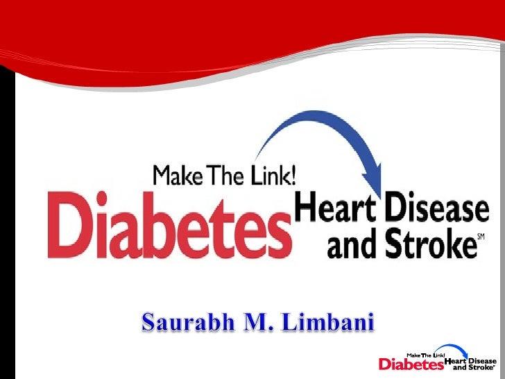 Link between diabetes and Heart disease Slide 1