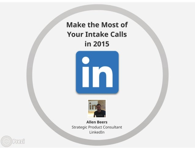 Make the Most of Your Intake Calls in 2015   Webcast