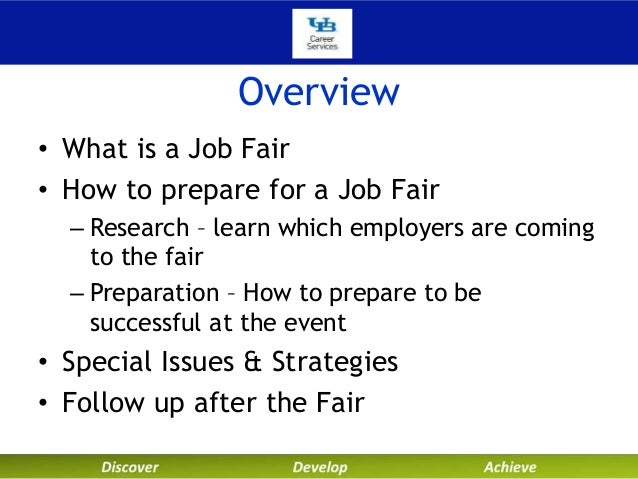 Make the most of a job fair