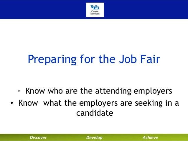 Preparing A Resume For A Job Fair