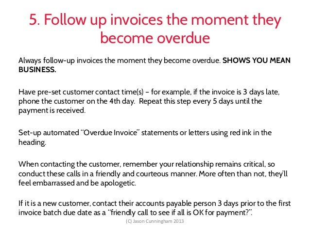 Debt Collection Business Victoria Breakfast - Invoice collection email