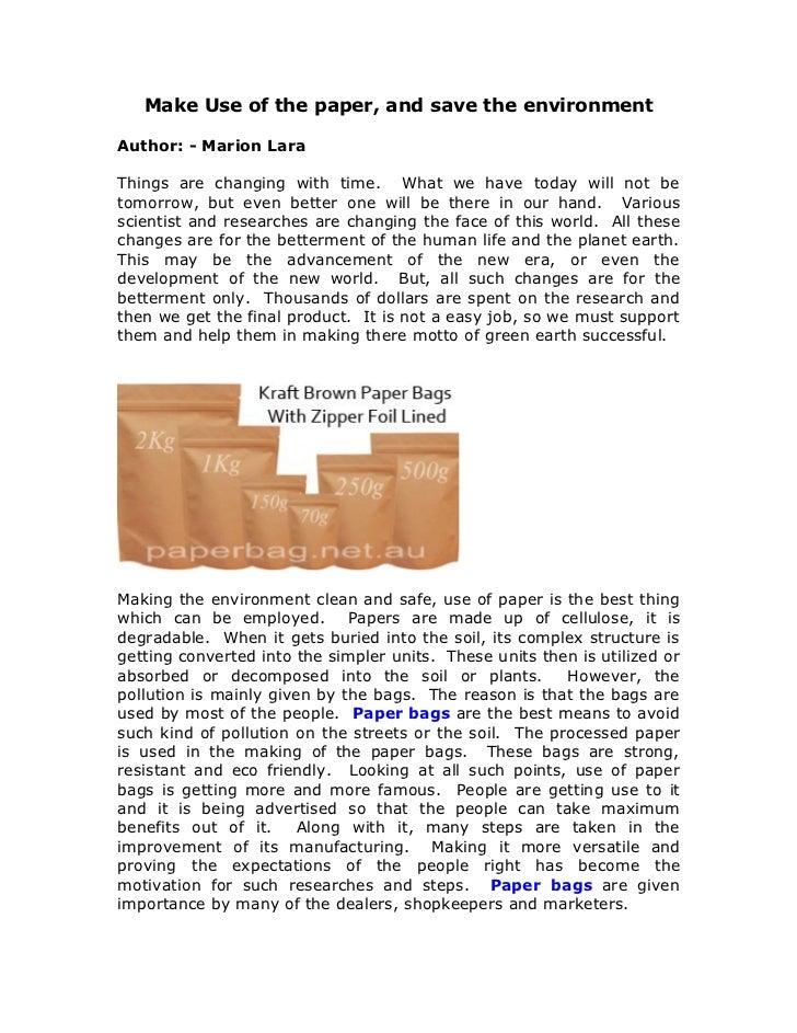 Paper bags, Paper packaging