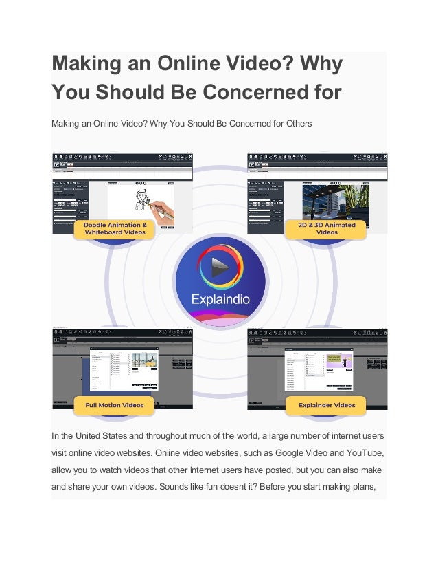 Making an Online Video? Why You Should Be Concerned for Making an Online Video? Why You Should Be Concerned for Others In ...