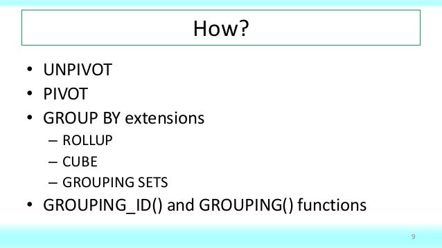 Make your data dance: PIVOT and GROUP BY in Oracle SQL