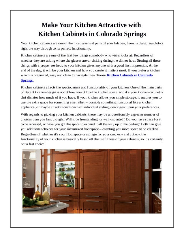 Make Your Kitchen Attractive with Kitchen Cabinets in ...