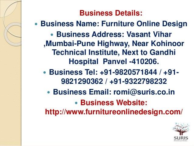 11 Business Details Name Furniture