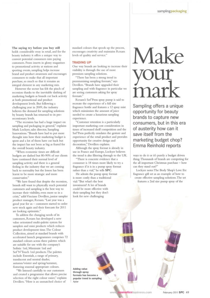 Make your mark SPC Article - February 2011