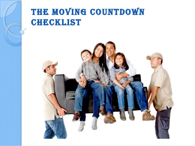The Moving CounTdown CheCklisT