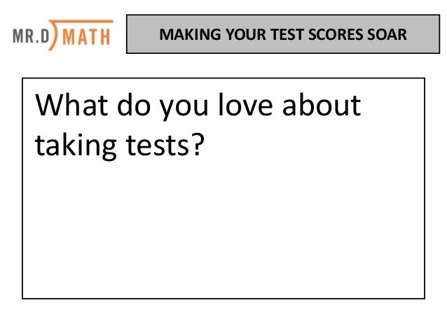 Make Your Test Scores Soar Slide 2