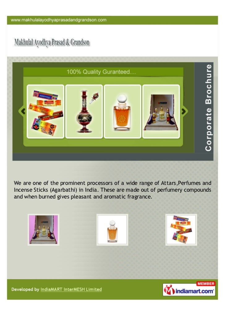 We are one of the prominent processors of a wide range of Attars,Perfumes andIncense Sticks (Agarbathi) in India. These ar...