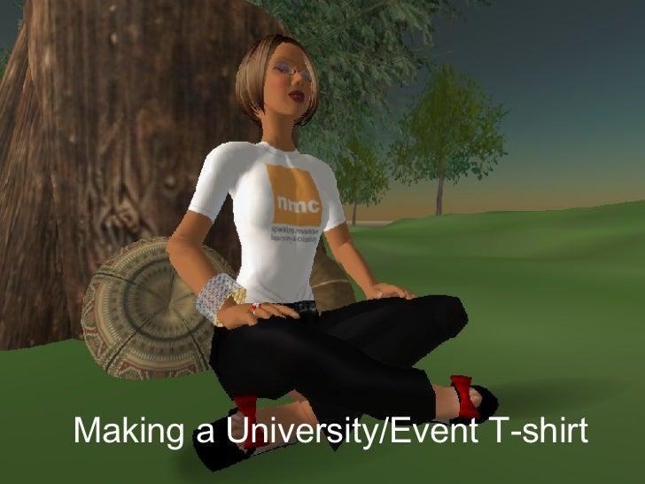 Making a University/Event T-shirt