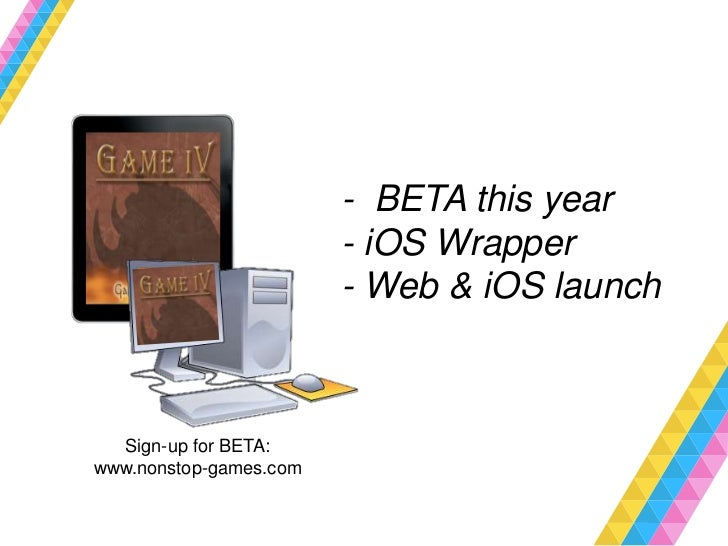 - BETA this year                        - iOS Wrapper                        - Web & iOS launch  Sign-up for BETA:www.nons...