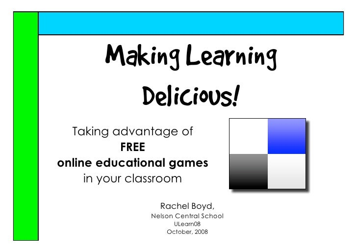 Making Learning Delicous
