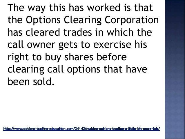 Option fair trading