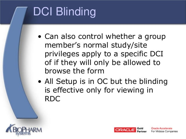Study design/setup in oracle clinical and remote data capture (rdc.