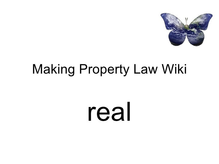Making Property Law Wiki real