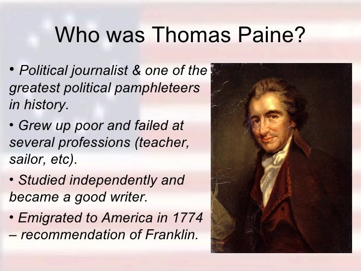 the effects of thomas paines common Author craig nelson explains the effect thomas paine's common sense had on  colonists.