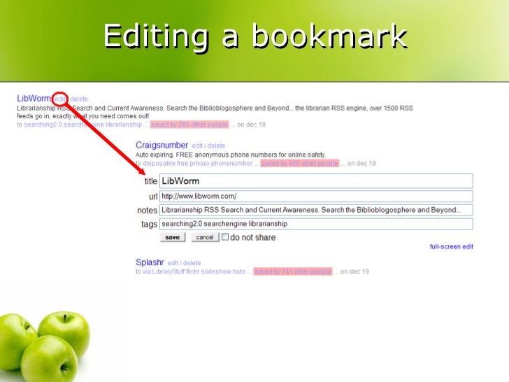 making your bookmarks yummy with del icio us