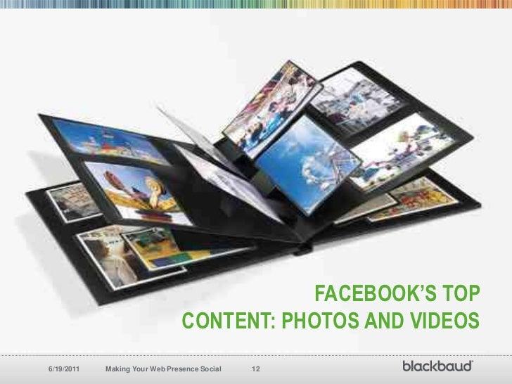 Facebook's top Content: Photos and Videos<br />