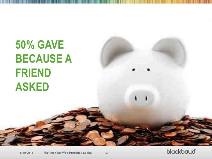 50% Gave because a Friend Asked<br />