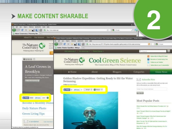 Make Content Sharable<br />2<br />
