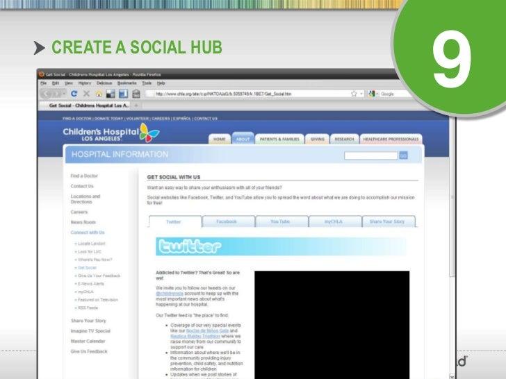 Create a Social Hub<br />9<br />