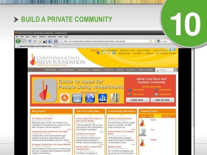 Build a Private Community<br />10<br />