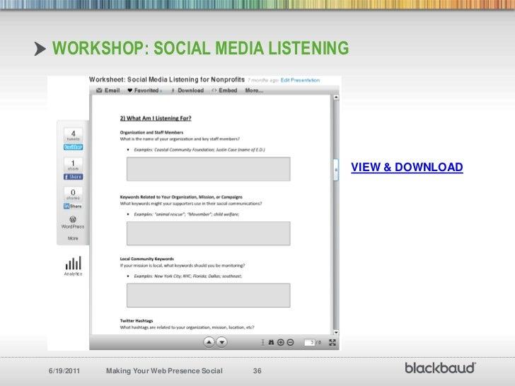 workshop: Social Media Listening<br />VIEW & DOWNLOAD<br />