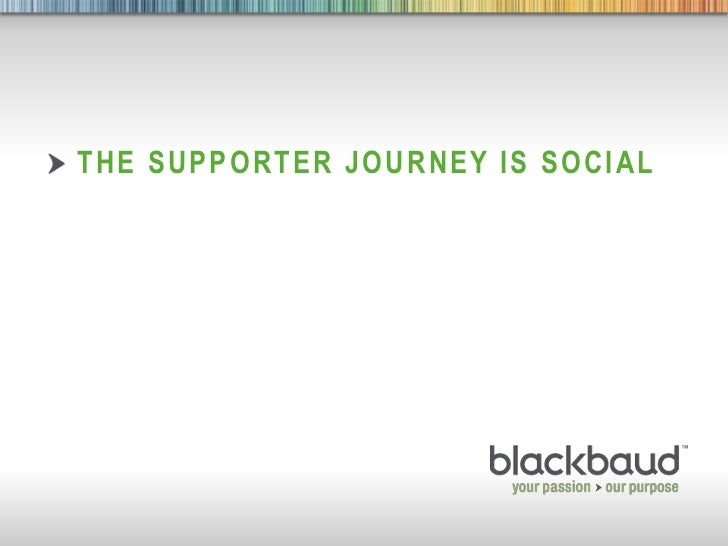 The Supporter Journey is Social<br />