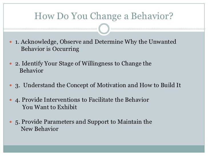 how motivation is exhibited in behavior Read chapter 3 motivation and behavioral change: by 2030 there will be  to  whatever encourages people to inhibit or exhibit certain behaviors, thoughts,.