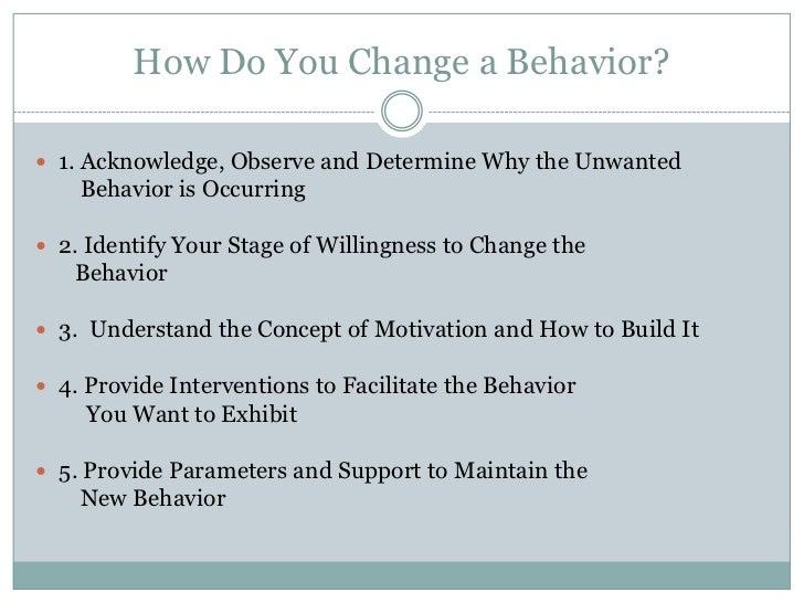 Individual influences on behavior