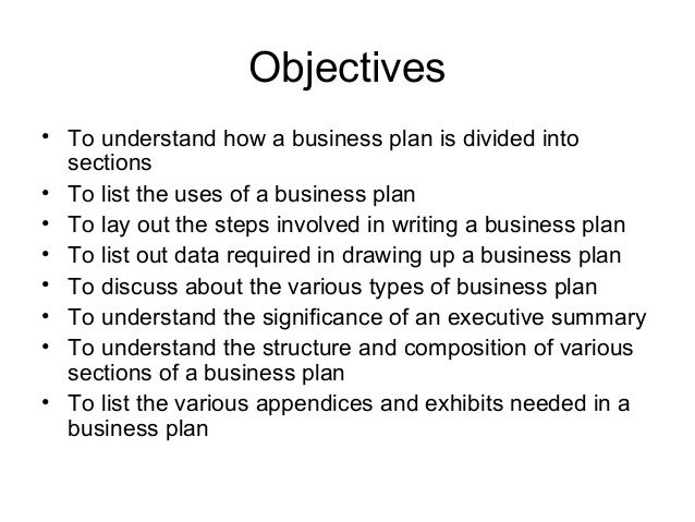 Various business plans