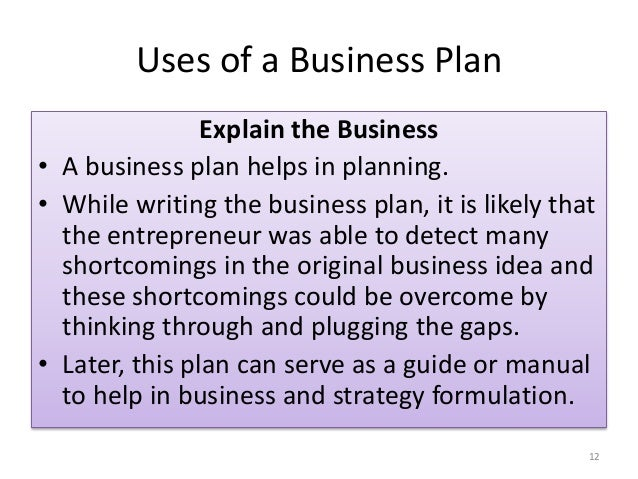 Making A Business Plan A Business Plan Will Help Them Understand What They Are Getting Into