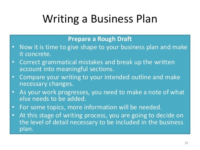how do you formulate a business plan
