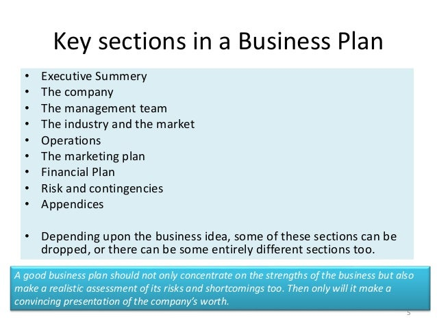 The Elements of a Business Plan, First Steps for New.