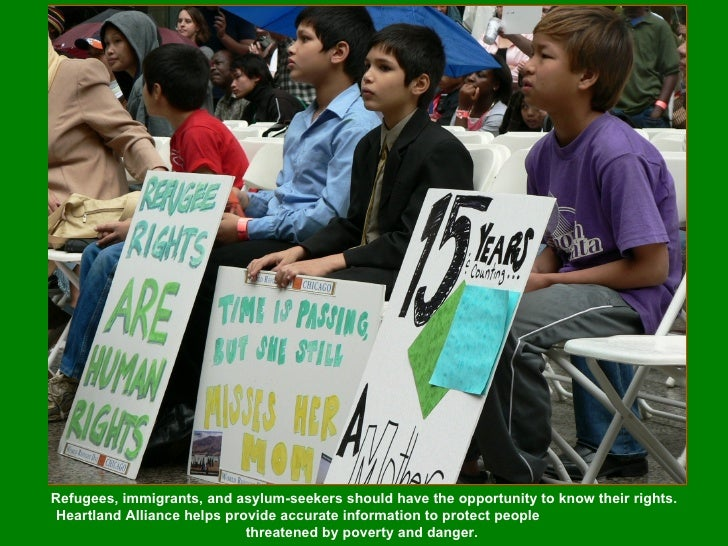 Refugees, immigrants, and asylum-seekers should have the opportunity to know their rights. Heartland Alliance helps provid...