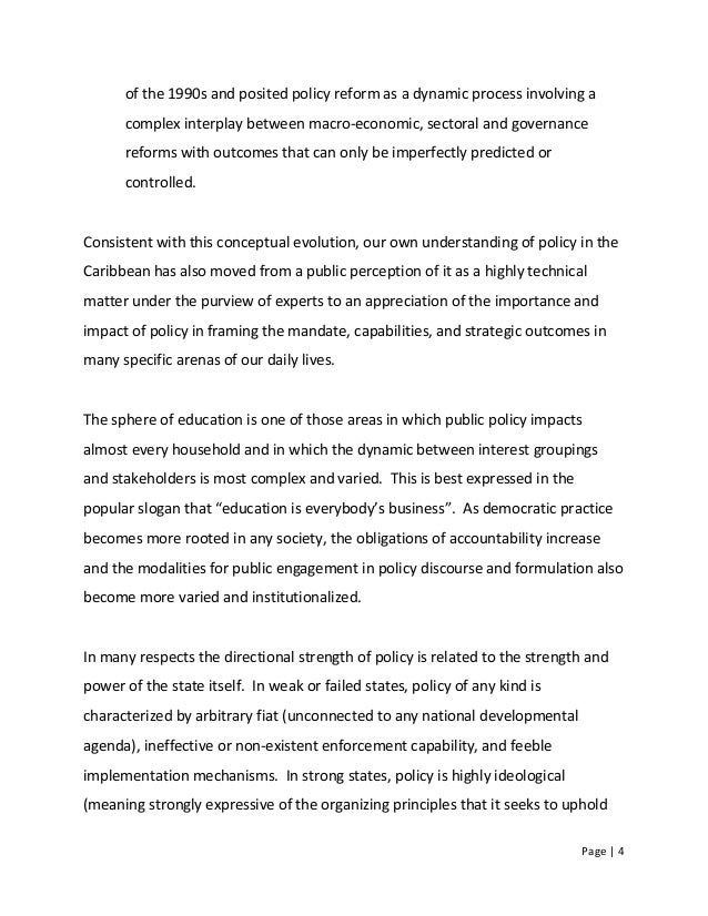 Page   4 of the 1990s and posited policy reform as a dynamic process involving a complex interplay between macro-economic,...