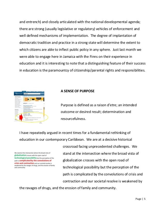 Page   5 and entrench) and closely articulated with the national developmental agenda; there are strong (usually legislati...
