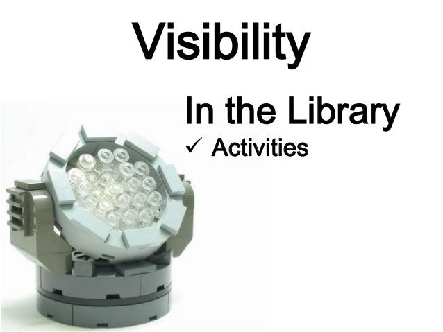 Visibility In the Library  Book Club