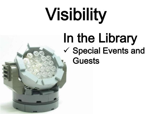 Visibility Serious about promotion and marketing? Then check out The Library Marketing Toolkit by Ned Potter