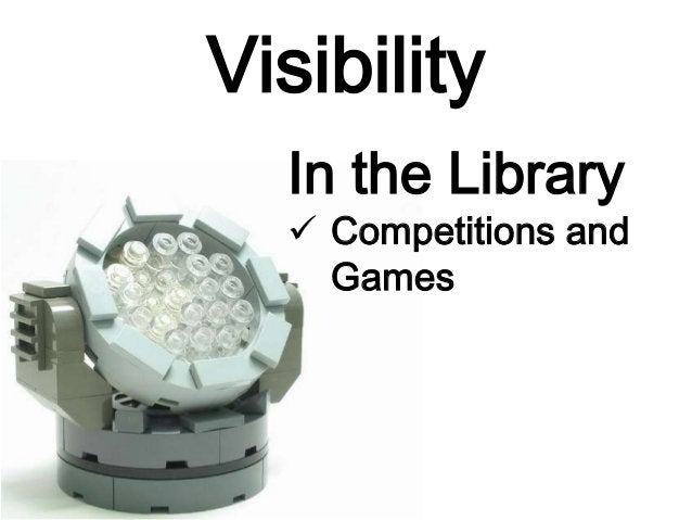 Visibility Publicity beyond the library