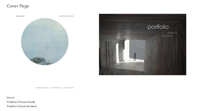 making an architectural portfolio for internship