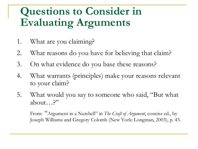 Making an argument presentation by duke university writing for The craft of argument