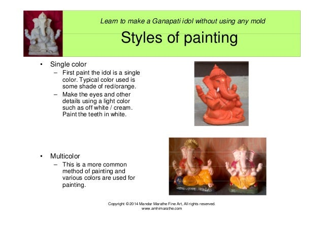 Want to make and/or paint a Ganapati idol? Attached file will surely …