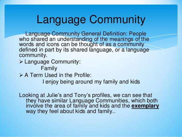 language community definition
