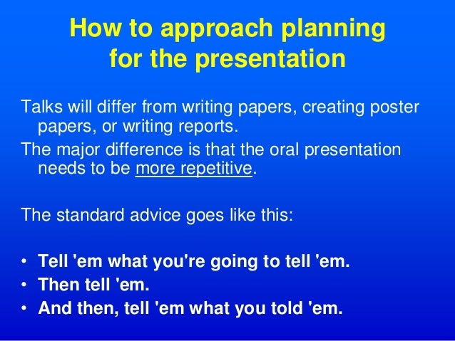how to give an oral presentation Students will share their experiences volunteering for a philanthropic organization with others.