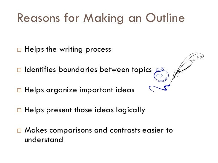 Making an outline for an essay