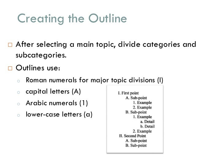 mla outline template